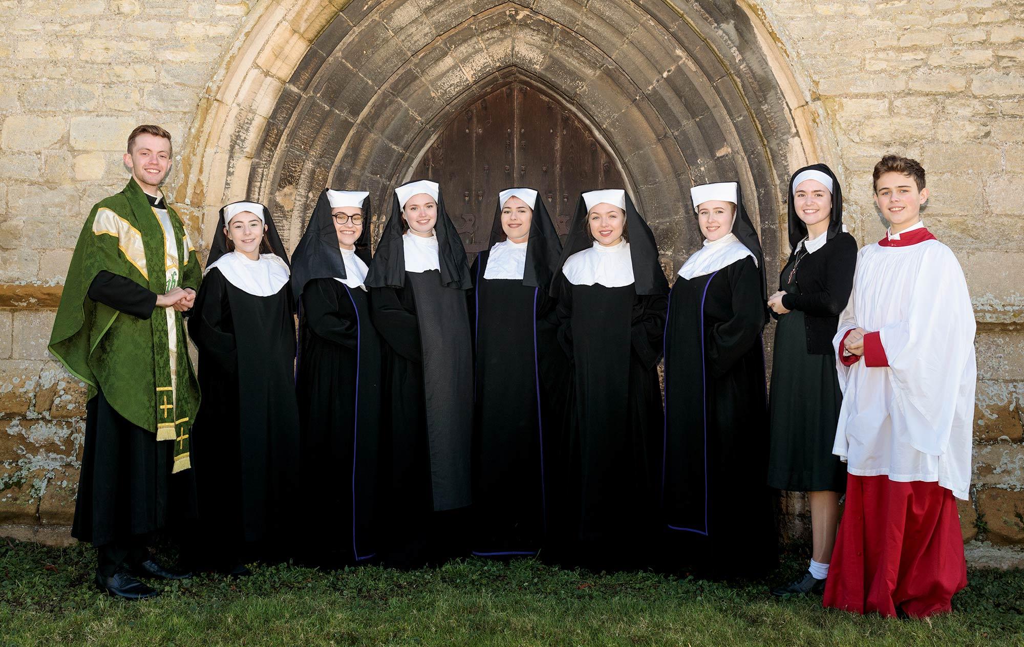 sister Act outside Spaldwick Church